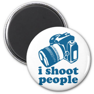I Shoot People - Blue 2 Inch Round Magnet