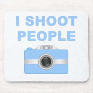 I Shoot People Blue Camera Mouse Pads