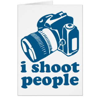 I Shoot People - Blue Card