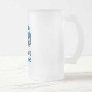 I Shoot People - Blue Frosted Glass Beer Mug