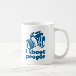 I Shoot People - Blue Classic White Coffee Mug