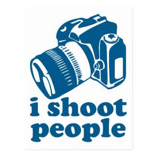 I Shoot People - Blue Postcard