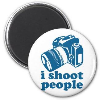 I Shoot People - Blue Refrigerator Magnet