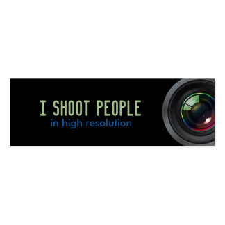 I shoot people business card templates