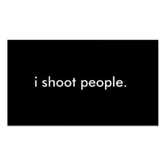 i shoot people. business card templates