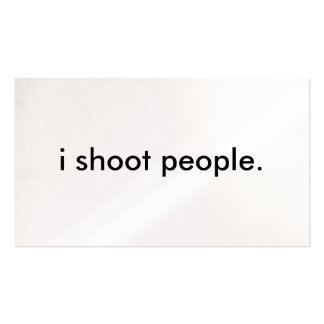 i shoot people. business card template