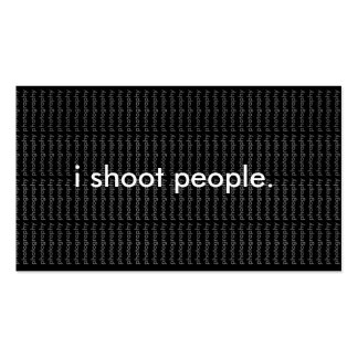 i shoot people. business card with background