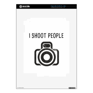 I shoot people - camera decals for the iPad 2