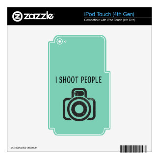 I shoot people - camera iPod touch 4G skins
