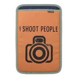 I shoot people - camera MacBook air sleeves