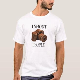 I Shoot People Chocoalte Camera T-Shirt