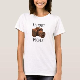 I Shoot People Chocolate Camera T-Shirt
