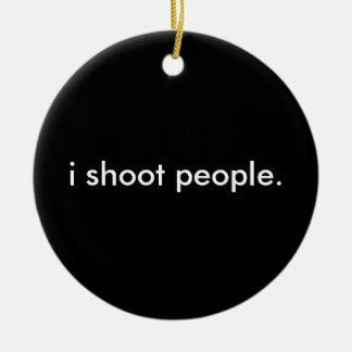 i shoot people christmas tree ornament