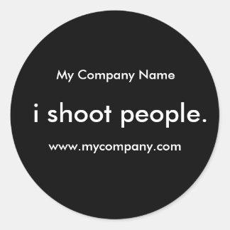 i shoot people. classic round sticker