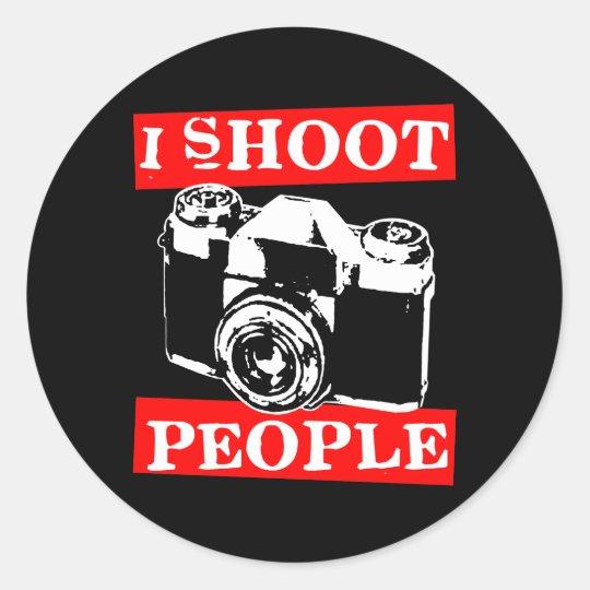 I Shoot People Classic Round Sticker