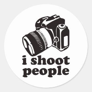 I Shoot People! Classic Round Sticker