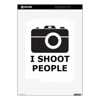 I Shoot People Decals For iPad 2