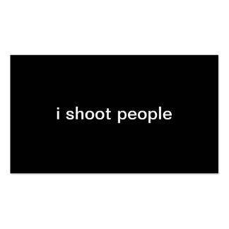 i shoot people Double-Sided standard business cards (Pack of 100)