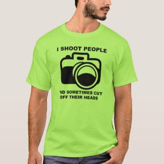 I Shoot People Funny Photographer Photography Shir T-Shirt