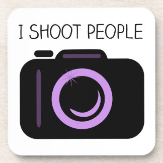 I Shoot People Funny Photographer Saying Coaster