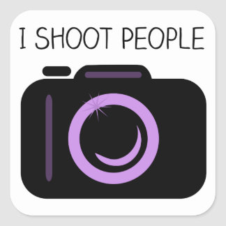 I Shoot People Funny Photographer Saying Square Sticker