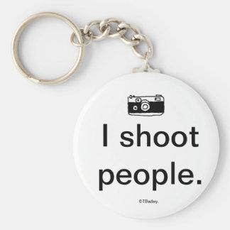 I Shoot People Keychain