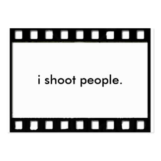 i shoot people large business card