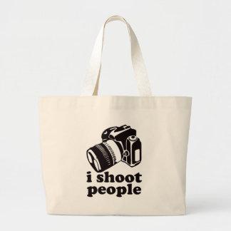 I Shoot People! Large Tote Bag