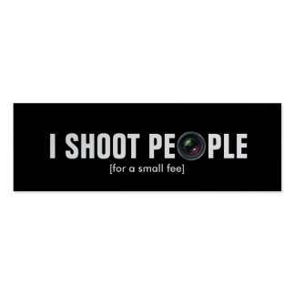 I shoot people - Metallic Paper photography Business Cards