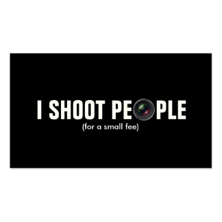 I shoot people - Metallic Paper photography Business Card Template