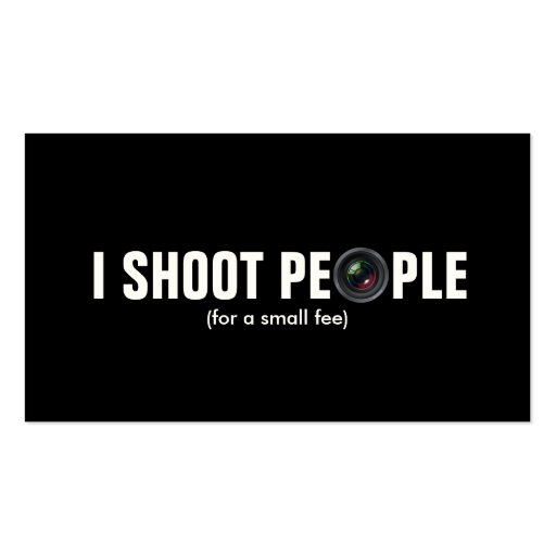 I shoot people - Metallic Paper (photography) Business Card Template