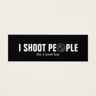 I Shoot People Metallic Paper Photography Mini Business Card
