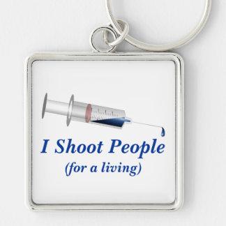 I Shoot People Nurse Humor Keychain