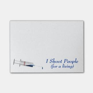 I Shoot People Nurse Humor Post-it® Notes
