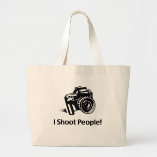 I Shoot People Photographer Jumbo Tote Bag