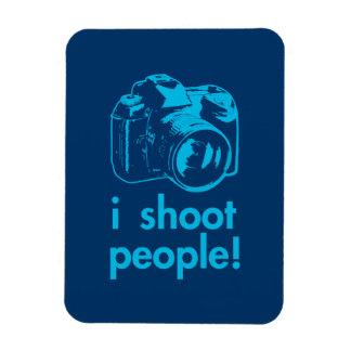 i shoot people photographer photography funny rectangular magnet