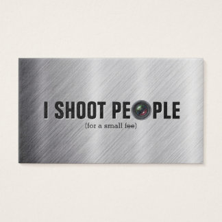 I shoot people - photography business cards