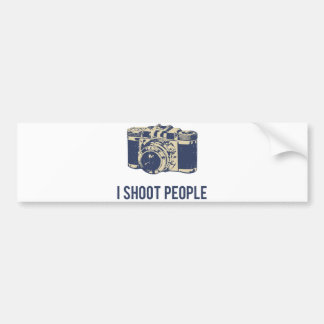 I Shoot People Photography Camera Bumper Sticker