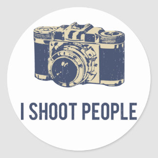 I Shoot People Photography Camera Classic Round Sticker