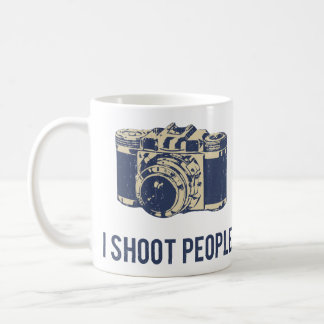 I Shoot People Photography Camera Classic White Coffee Mug