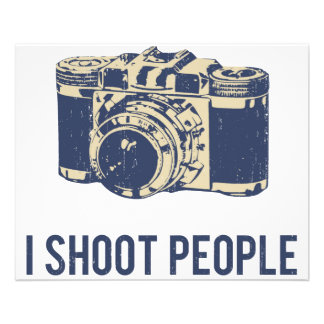 I Shoot People Photography Camera Flyer