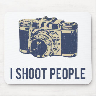 I Shoot People Photography Camera Mouse Pad
