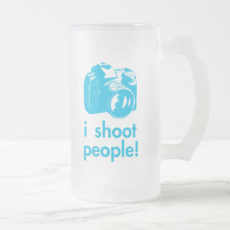 i shoot people photography photographer funny frosted glass beer mug