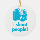 i shoot people photography photographer funny christmas ornament