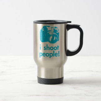 i shoot people photography photographer funny travel mug