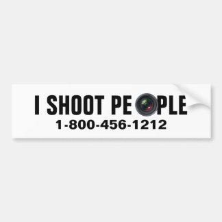 I shoot people - Professional Photographer Bumper Sticker