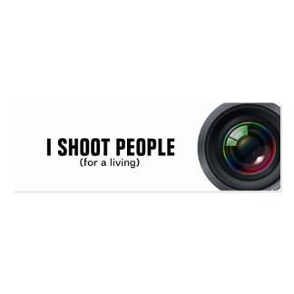 I shoot people - Professional Photographer Business Cards
