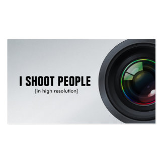 I shoot people - Professional Photographer Double-Sided Standard Business Cards (Pack Of 100)