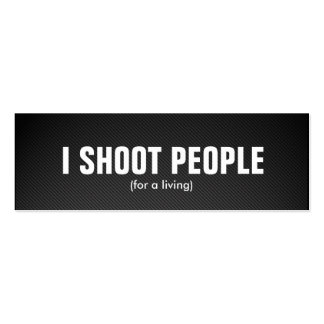 I shoot people - Professional Photographer Business Card Templates