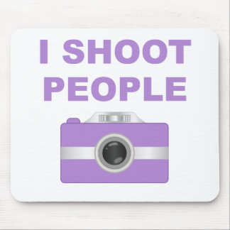 I Shoot People Purple Camera Mouse Pads